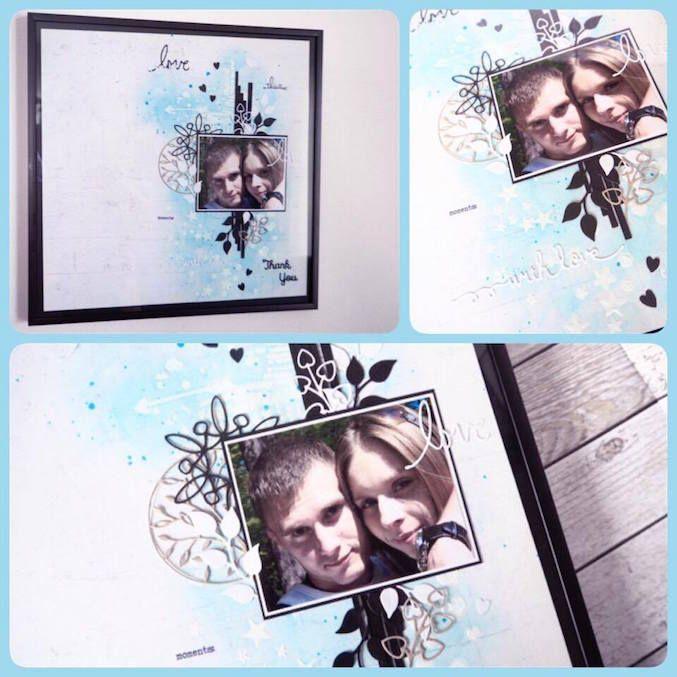 Layoutová vzpomínka pro brášku / Layout for my brother    #crazycatcz #layout #gift #dárek #obraz #vzpomínka #memories