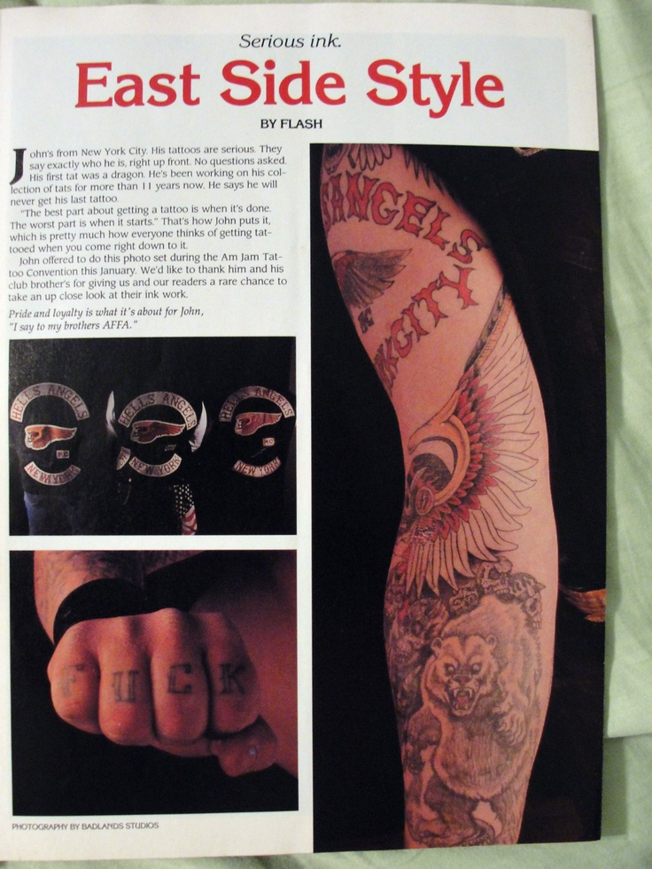 Hells angels motorcycle tattoo magazine article and photo for Hells angels tattoos pics