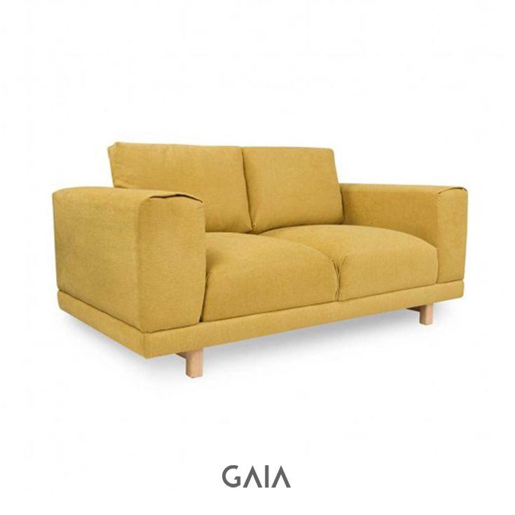 GAIA Design - Sofá Copit love seat- Amarillo #furniture #design #GAIADesign #Mexico #MueblesdeDiseño #interiorismo #arch #urban #amarillo #sala #livingroom #sillon #sofa #reunion #space #invitados #guests #family #comfortable #multifuncional