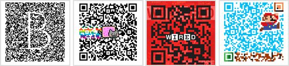 QR generator at qrhacker.com that lets you create colorful QR codes and what makes this tool different is that it provides you can option to embed photographs and logo images to your QR codes
