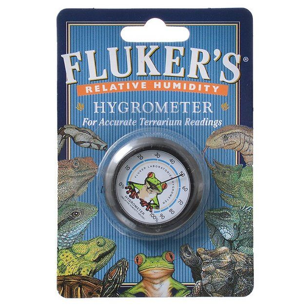Fluker's Relative Humidity Hygrometer brings a splash of style and function to your reptile or amphibian's terrarium. It measures relative humidity of your pet's habitat to help you maintain a consistent level of humidity, ensuring he remains comfortable and healthy.