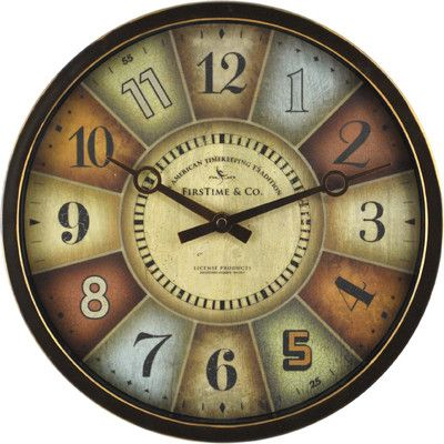 """FirsTime 12"""" Color Wheel Wall Clock 26"""
