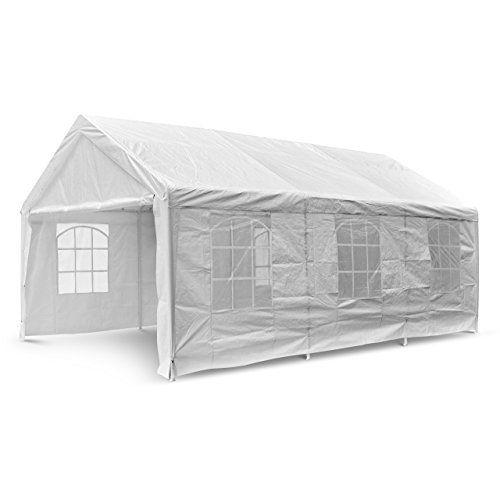 Nexos GM35940 Hochwertiges Festzelt Partyzelt Bierzelt Gartenzelt PE-Pavillon stabil wasserdicht 4 x 6 m wei�