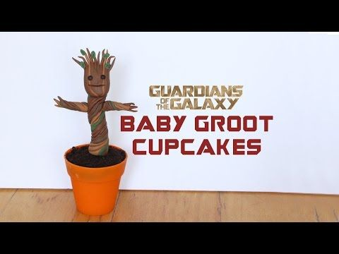 Guardians of the Galaxy, Baby Groot Cupcake Tutorial | Paola Julissa - YouTube