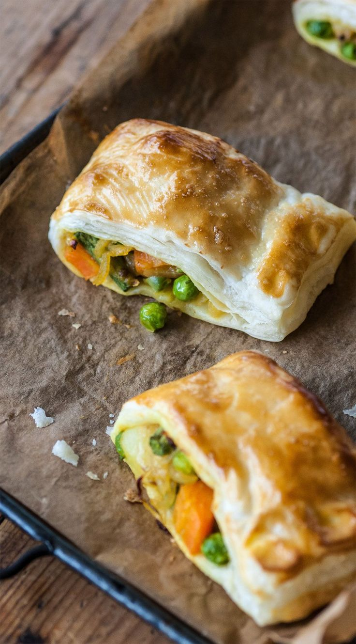 Great British Chefs . Spiced Vegetable Pastries . { great alternative to sausage rolls } .
