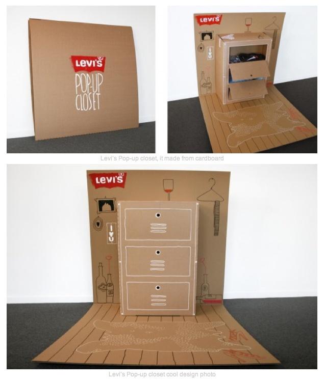 Levis Popup closet A cardboard popups  Levis