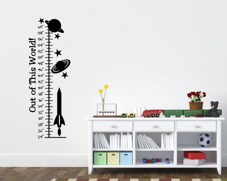 awesome Rocket Growth Chart Childrens Room Boys Room Wall Ruler Planet Grow Ruler Art   Check more at http://harmonisproduction.com/rocket-growth-chart-childrens-room-boys-room-wall-ruler-planet-grow-ruler-art/