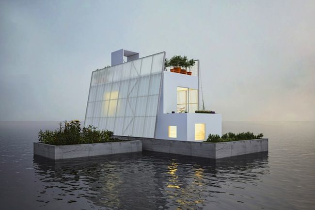 Une #maison #flottante, 100% autosuffisante et adaptable. #Immobilier #écologie