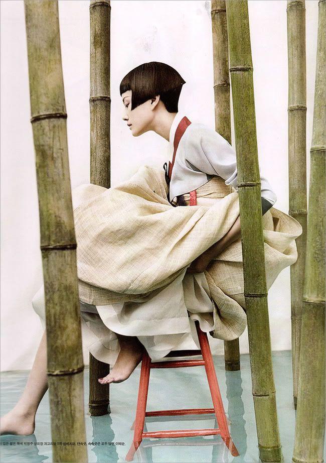 "Vogue Korea '08 /     fashion editorials with traditional dresses ""Hanbok""    /   photographer: Kim Kyung Soo"