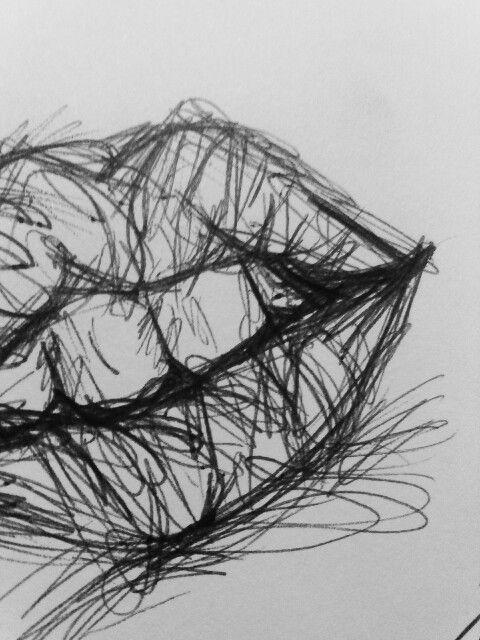 Lips, drawing, art