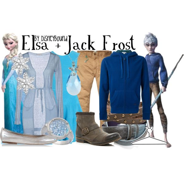 Inspired by Elsa and Jack Frost from Frozen and Rise of the Guardians (via Disneybound) #Couples #AUShip