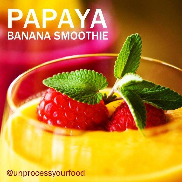 Dash Papaya Banana Smoothie Recipe:  facebook.com/unprocessyourfood  Instagram: @unprocessyourfood