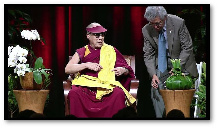 After this kapa I made was presented to the Dalai Lama I was given the opportunity to explain what it was and what it meant.  His translator is telling it to him.  Really cool experience!