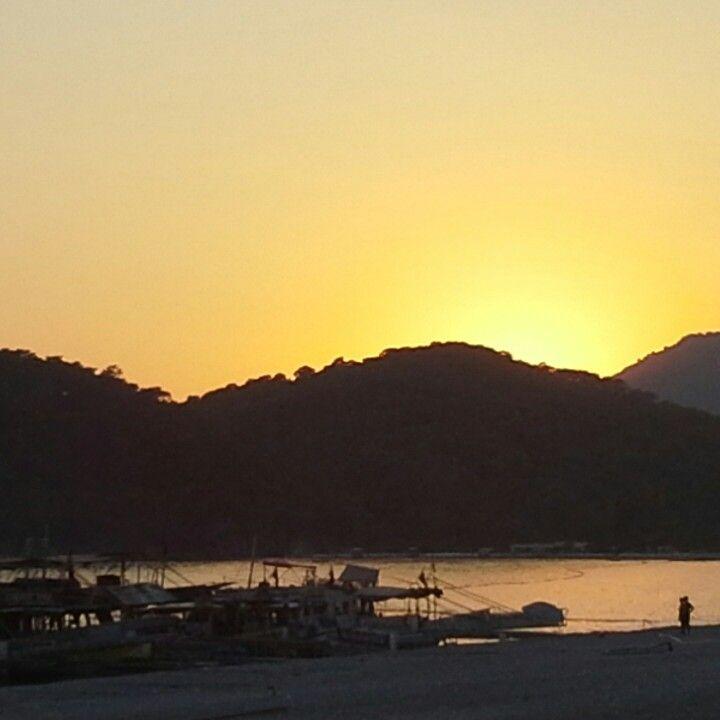 Oludeniz beach, Turkey with sunset