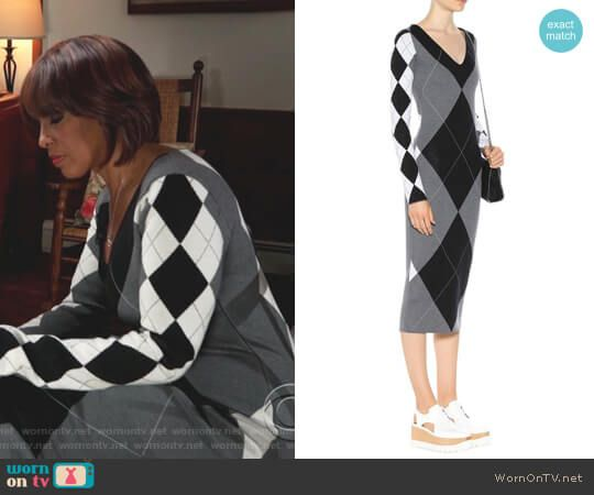 Gayle's argyle sweater dress on CBS This Morning.  Outfit Details: https://wornontv.net/89171/ #CBSThisMorning
