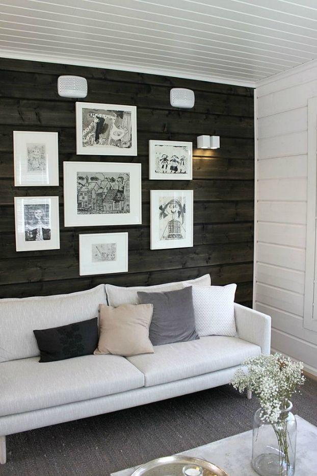 Living Room With dark Walls 23