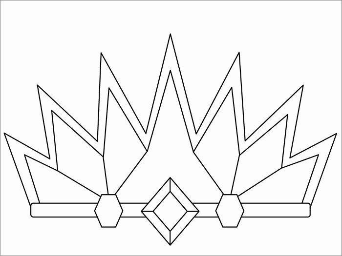 Princess Crown Coloring Page Elegant Crown Template Free Templates