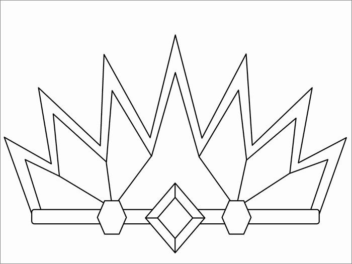 Princess Crown Coloring Page Elegant Crown Template Free Templates