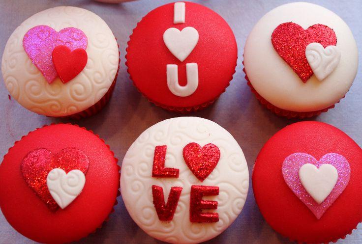 #Cupcakes decorados con el mayor de los sentimientos: el #Amor #Postre #Dulce