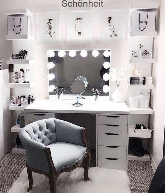 DIY Makeup Room Ideen, Veranstalter, Aufbewahrung und Dekoration (#Makeup Room Idea) , #aufbewahrung #dekoration #ideen #makeup #veranstalter