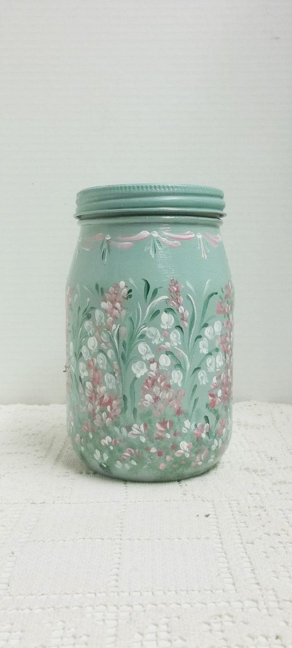 1828 best pintura vajilla cristal images on pinterest for Jardin glass jars