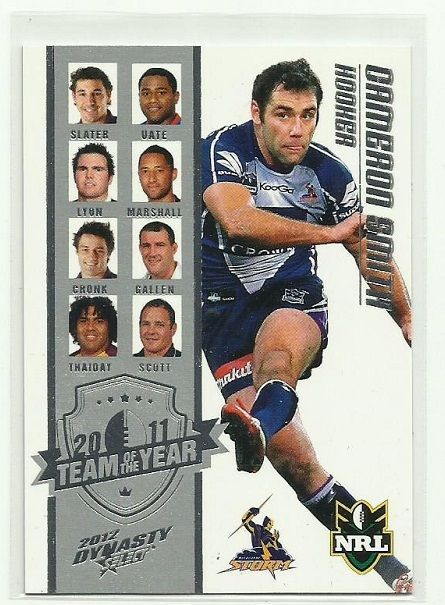 2012 NRL SELECT DYNASTY MELBOURNE STORM CAMERON SMITH TY9 TEAM OF THE YEAR CARD…