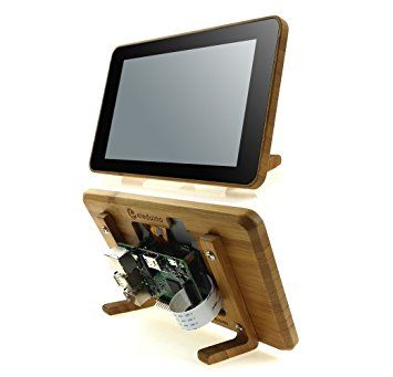 "Eleduino Raspberry Pi Official 7"" Touchscreen Display Bamboo Case"