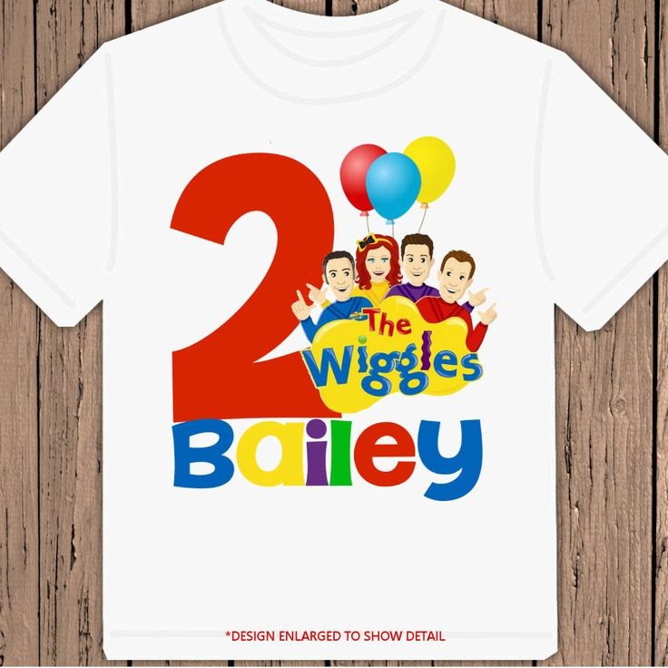 The Wiggles Birthday personalized tshirt shirt by maryahdesigns, $13.00