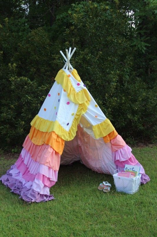 how to make a teepee for a school project