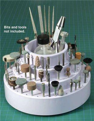 Rotary Tool Bit Holder: something similar would work to display model kit paint brushes