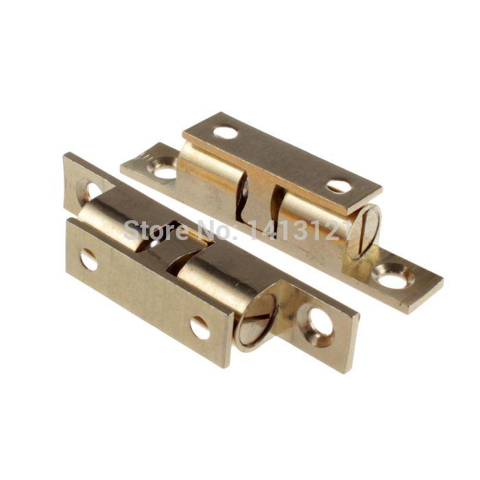 Fresh free shipping mm brass cabinet Catch metal furniture Hardware part door catch door closer kitchen DIY