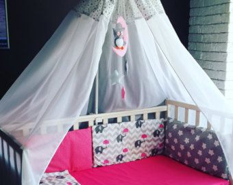 Canopy bed Grey Stars ?? MammyDoShop ?? Etsy Home u0026 Living Bedding canopy baby bedding nursery baby girl baby boy newborn & Best 25+ Baby bed canopy ideas on Pinterest | Princess canopy ...