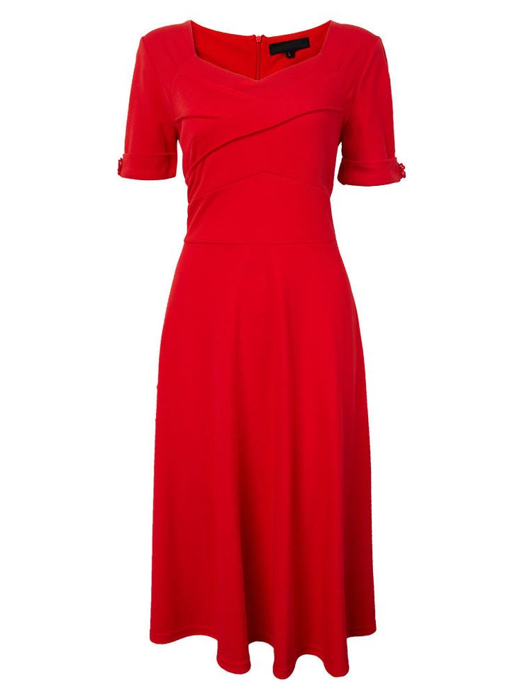 Party High Waist Solid Tunic Swing Pleated A-Line Women Dress