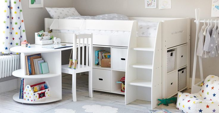 Merlin Mid Sleeper Bed, with Storage Units