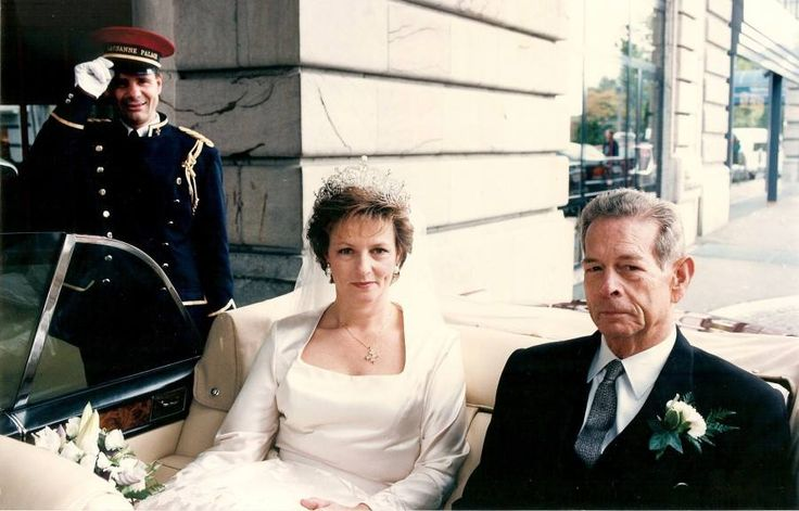 King Michael of Romania and his daughter and heir, Princess Margarita of Romania - Margarita's wedding 1996.