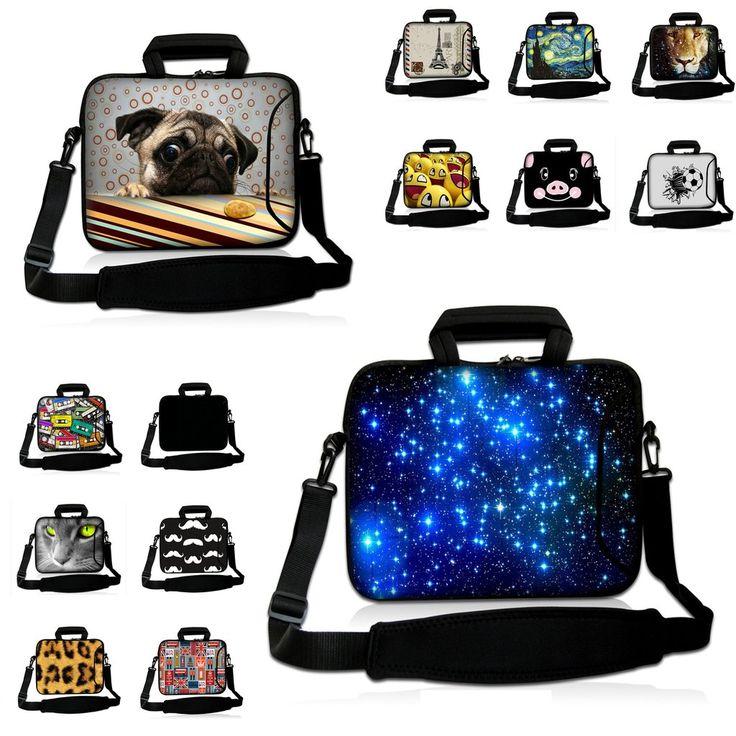 Computer Accessories Funda Portatil Messenger 10.1 12 13 14 15 17inch Laptop Bag Handle Carry Cases w.Shoulder Strap For Macbook