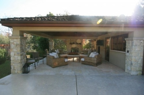 Nice patio with very comfortable looking chairs and nice for Living accents patio furniture