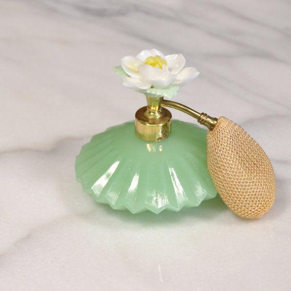 Vintage Jadeite Perfume Bottle
