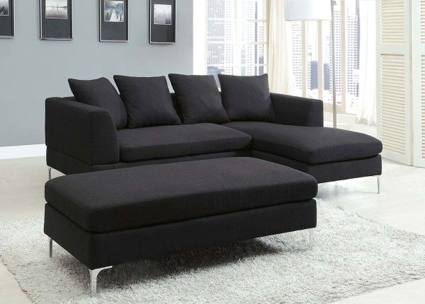 black-sectional-couches-design-inspiration-wih-amazing-black-sectional-with-chaise-and-white-shag-rug-600x430.jpg (600×430)