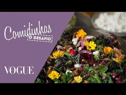 Salada com flores comestíveis e frutas é o desafio de Ana Hickmann  / TV Vogue / Comidinhas - YouTube