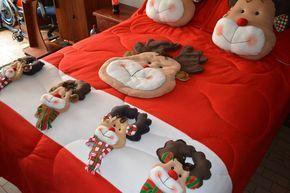 cubrelecho navideño