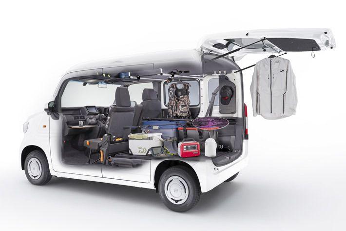 ホンダ 新型n Vanを好みにカスタム 車中泊も趣味も仕事もokな純正