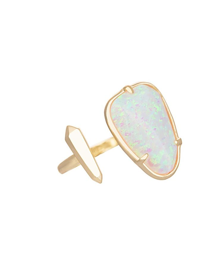 Aussie Open Ring in White Kyocera Opal - Kendra Scott Jewelry. Coming January 21!