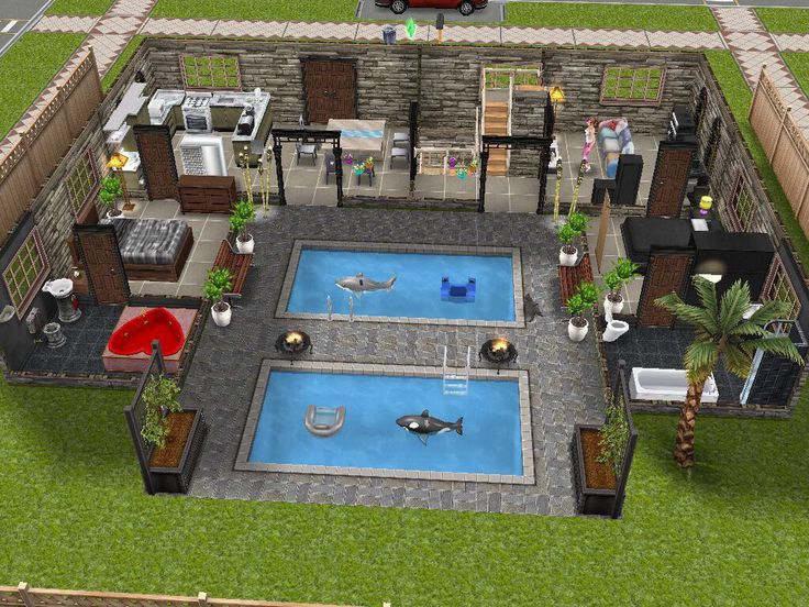 10 best images about the sims freeplay house designs on pinterest the sims rear view and - Sims freeplay designer home ...
