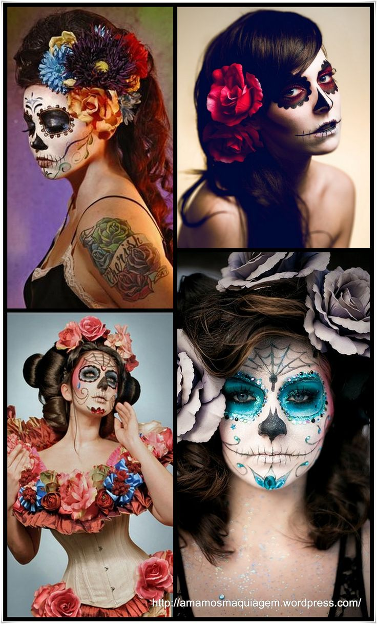 15 best caveira mexicana images on Pinterest | Makeup, Halloween ...
