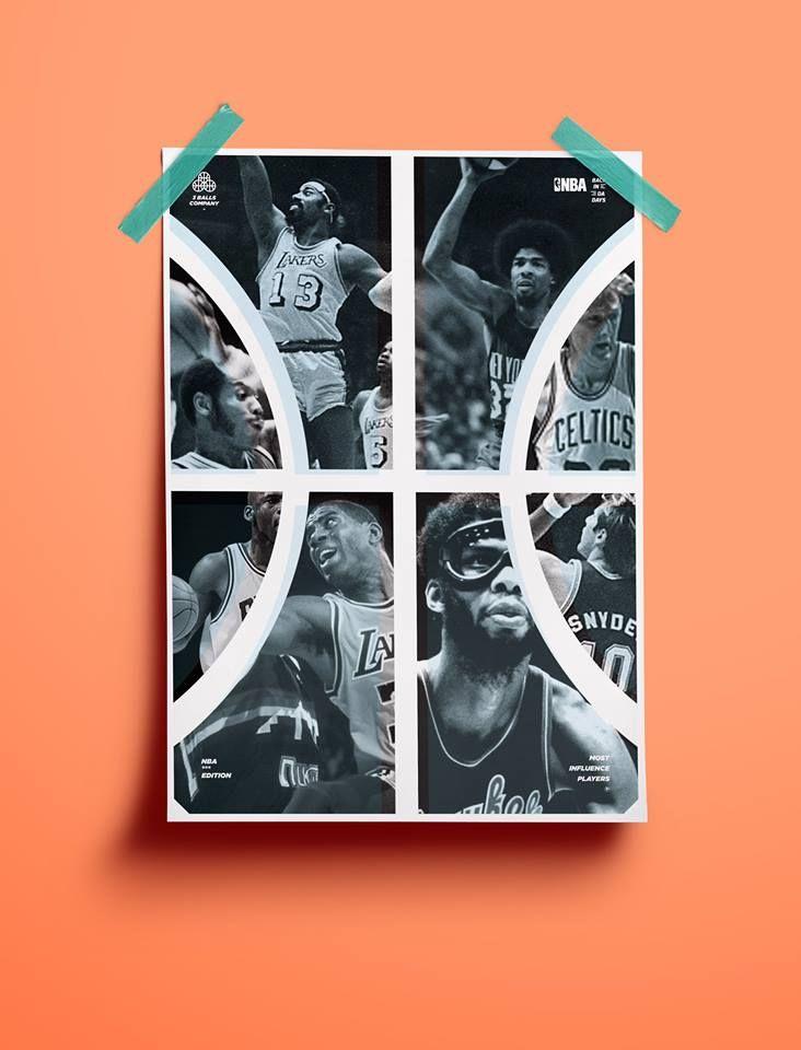 NBA LEGENDS Poster by ACETONE GRAPHIK studio