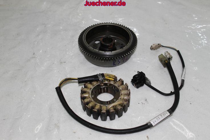 Aprilia RS 125 Lichtmaschine komplett Rotor Stator Aussengeber Ankerplatte Schwungmagnetstarter  #Ankerplatte #Aussengeber #Lichtmachine #Rotor #Schwungmagnetstarter #Stator