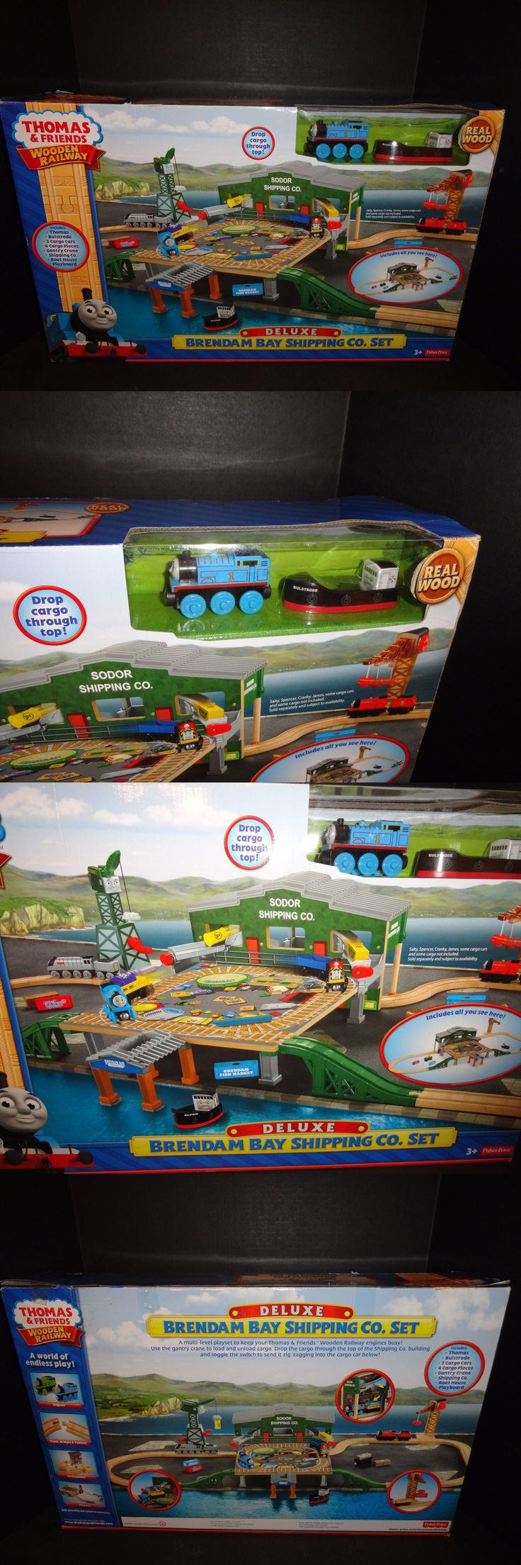 Other Thomas Games and Toys 22721: Thomas And Friends Wooden Railway Deluxe Brendam Bay Shipping Company Set New -> BUY IT NOW ONLY: $139.95 on eBay!