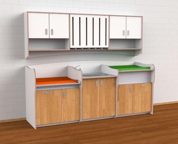 commode 275 cm met babybadje en dubbel werkblad verzorgingstoog pinterest. Black Bedroom Furniture Sets. Home Design Ideas