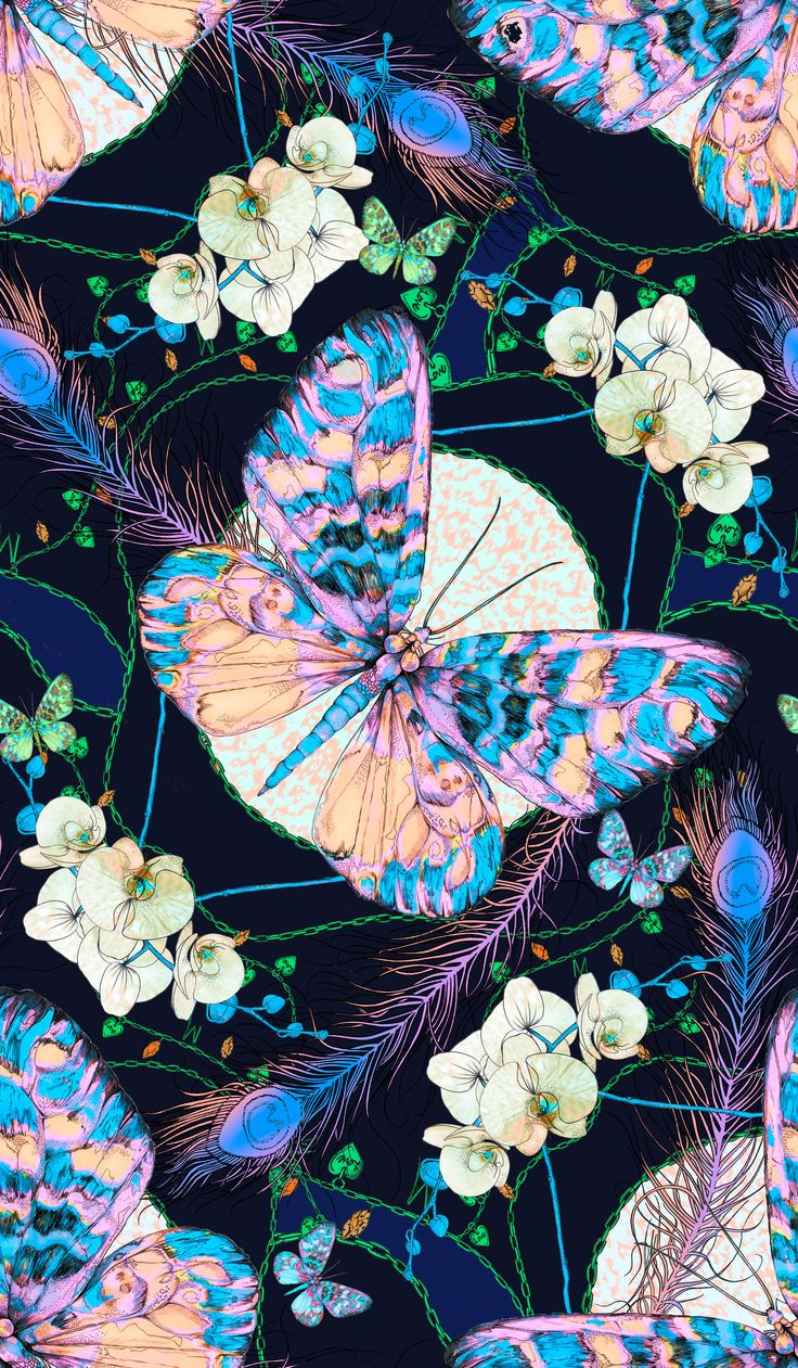 The Heritage Butterfly print by Matthew Williamson from Winter 2013. Click to shop our latest butterfly print.